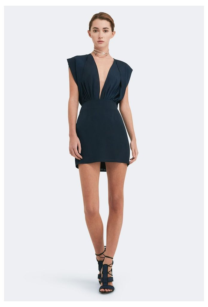 Reese Deep Plunge Mini Dress - Eclipse Navy