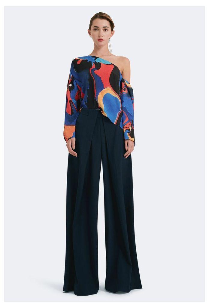 Serena High Waist Trousers - Eclipse Navy