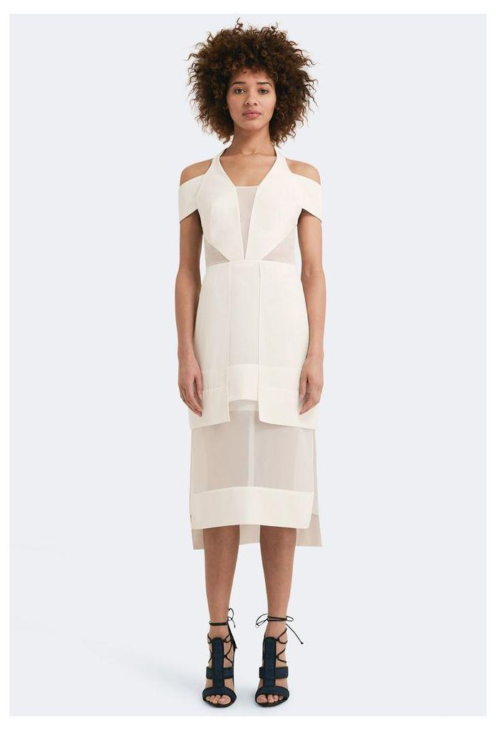Becca Cut-Out Midi Dress - White