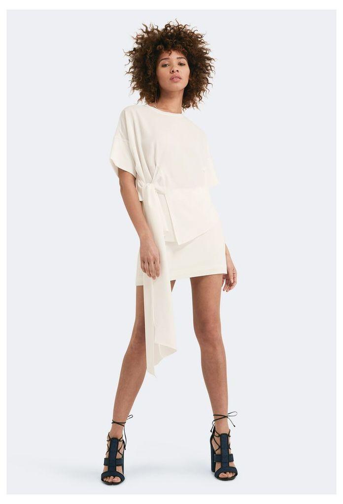 Lexi Short Sleeved Mini Dress - White