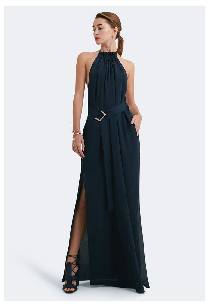 Spencer Halter Neck Maxi Dress - Eclipse Navy