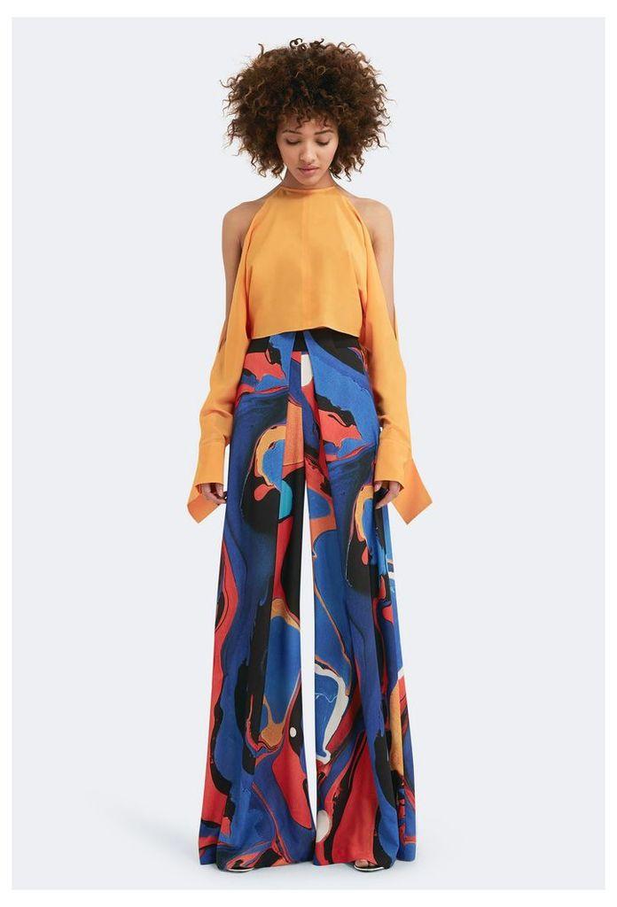 Amelia Cold Shoulder Top - Saffron