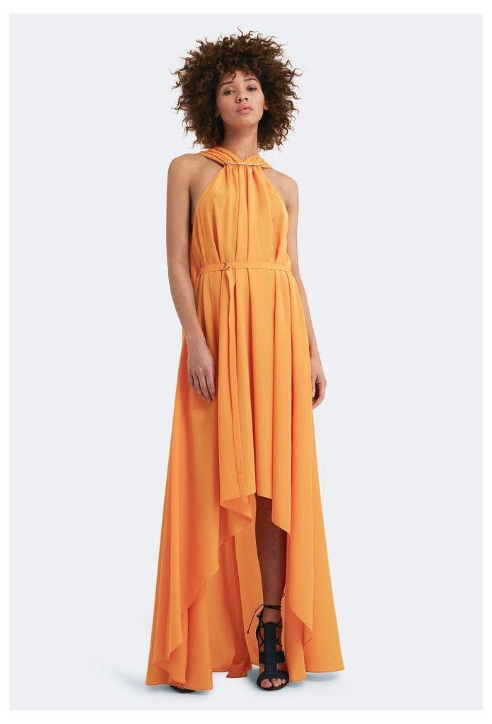 Isla Step Hem Maxi Dress - Saffron