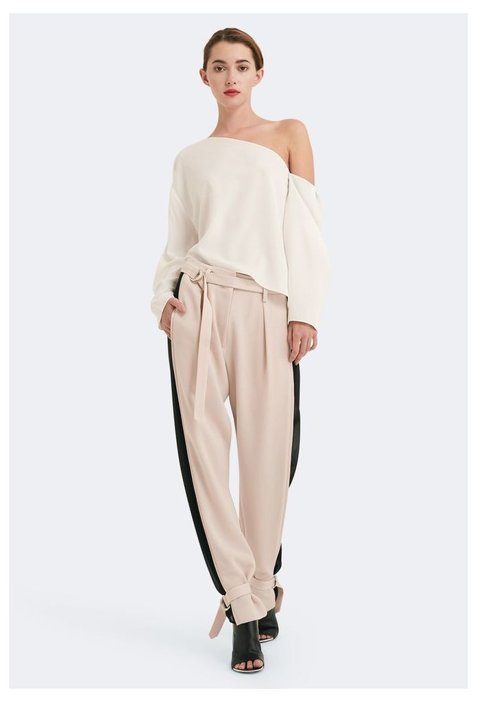Sylvie Stripe Side Trousers - Sand / Black