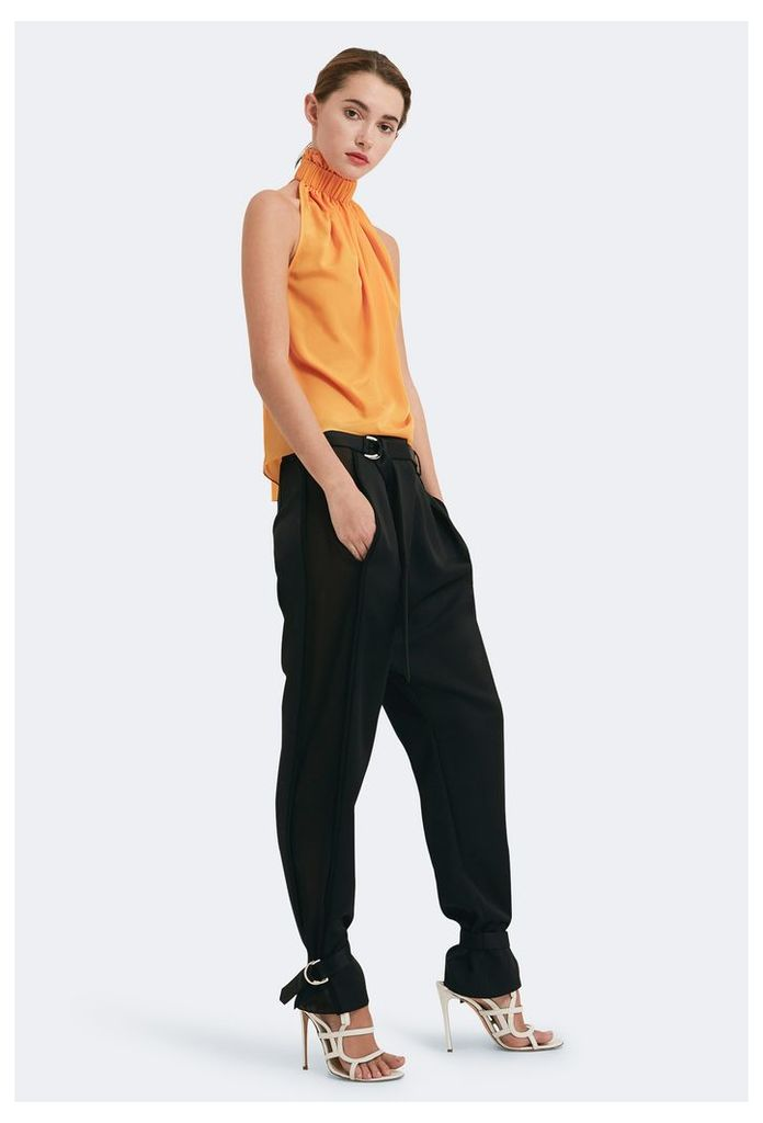 Sylvie Stripe Side Trousers - Black