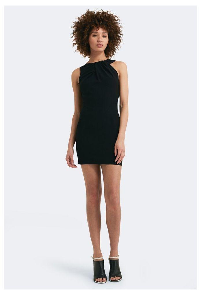 Mina Asymmetric Mini Dress - Black