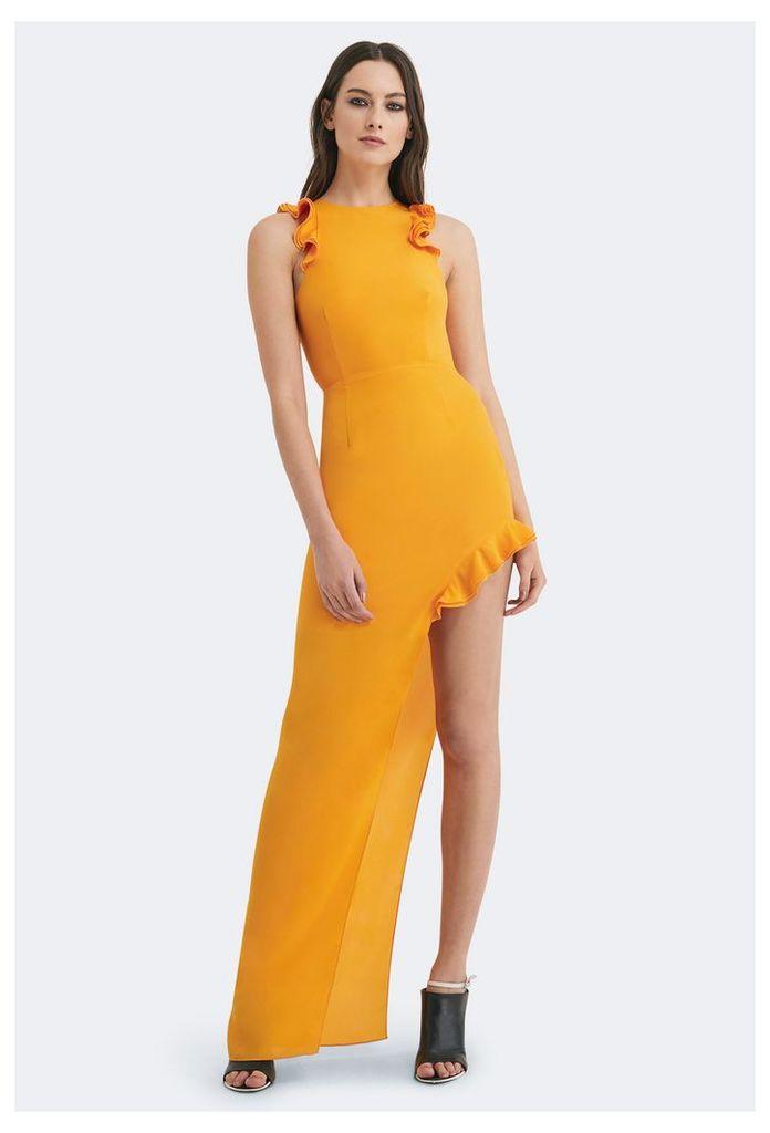 Juan High Split Maxi Dress - Saffron