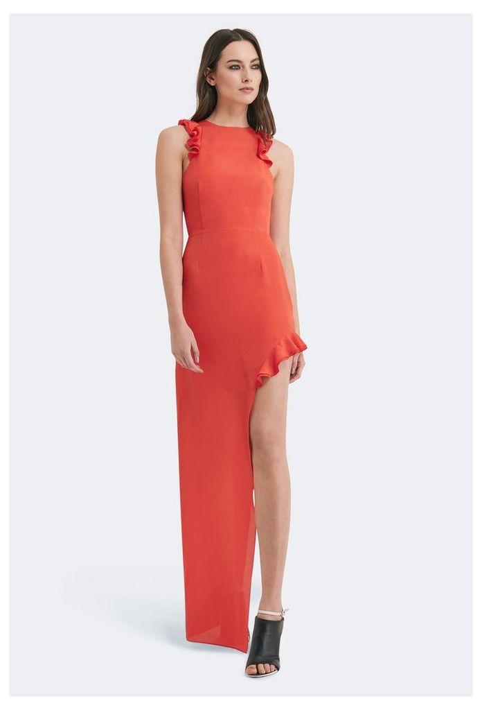 Juan High Split Maxi Dress - Orange