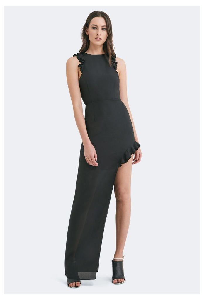 Juan High Split Maxi Dress - Black