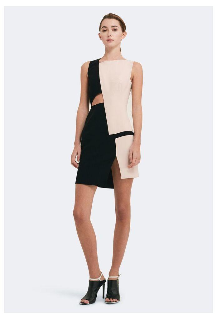 Lottie Cut-Out Mini Dress - Sand / Black
