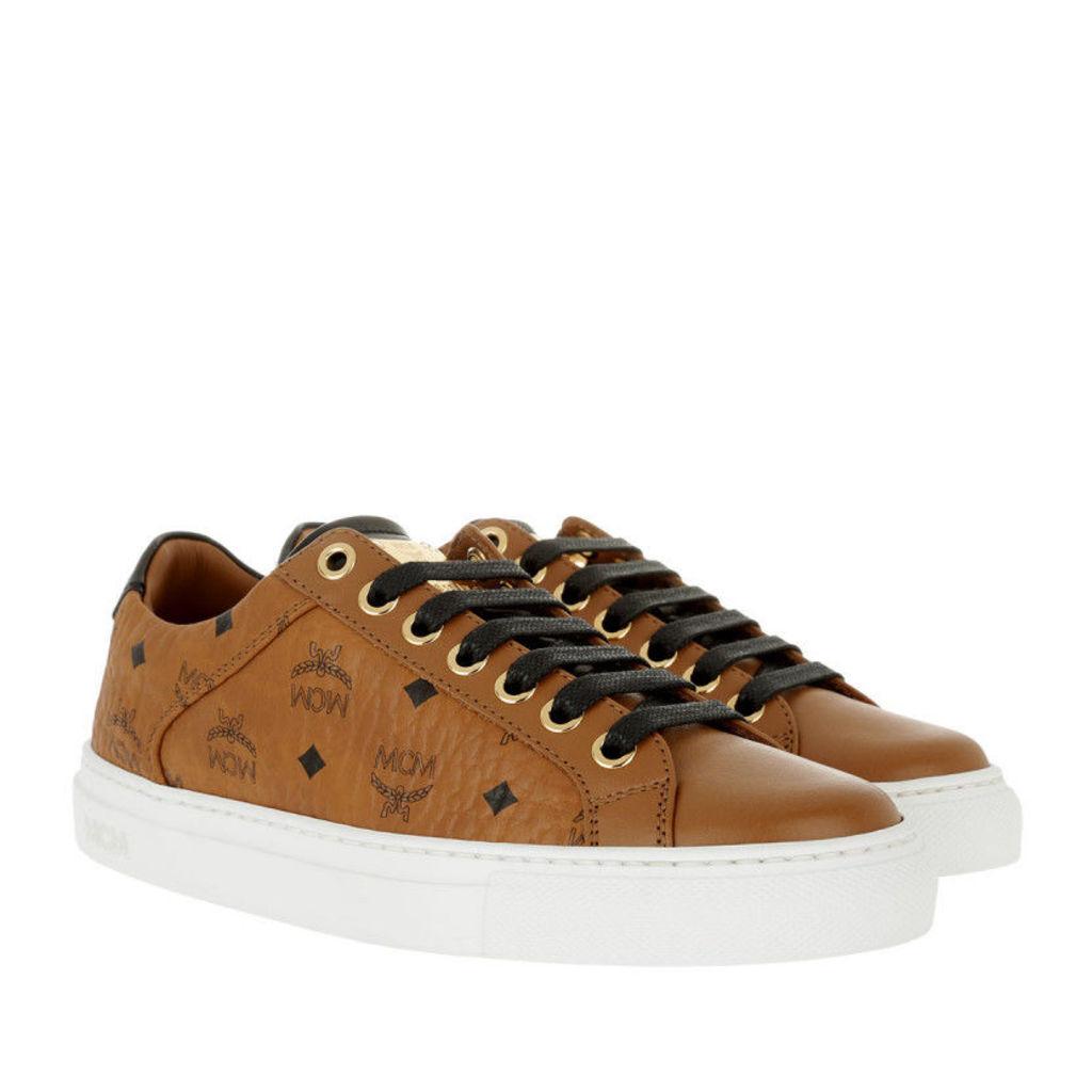 MCM Sneakers - W Lace Up Sneakers Cognac - in cognac - Sneakers for ladies