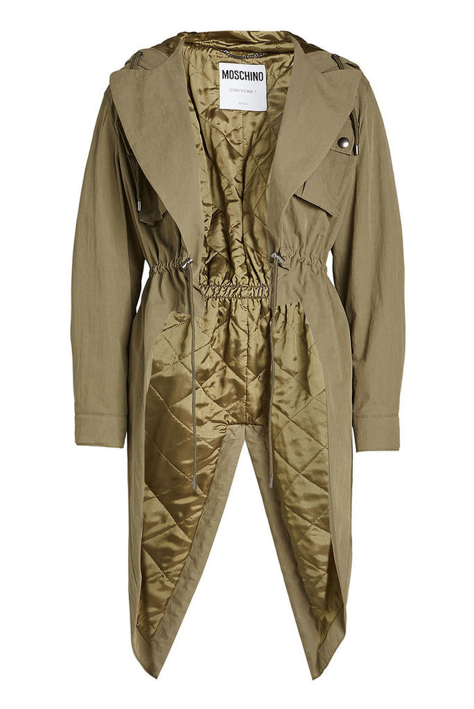 Moschino Long Jacket with Cotton
