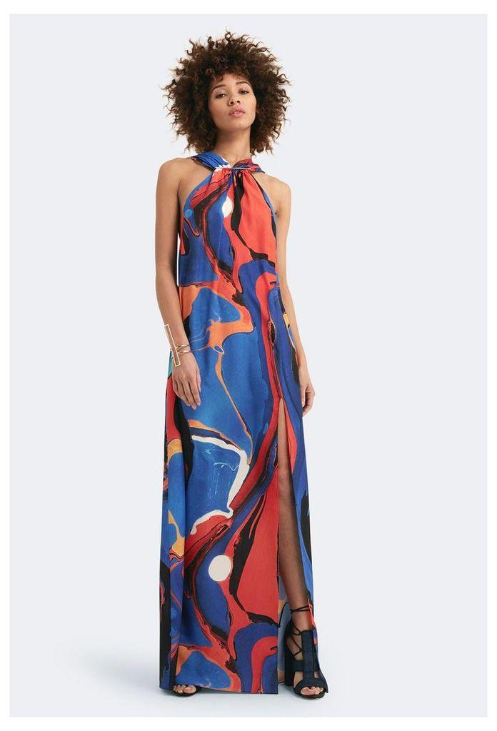 Lyon Printed Maxi Dress - Azine Print