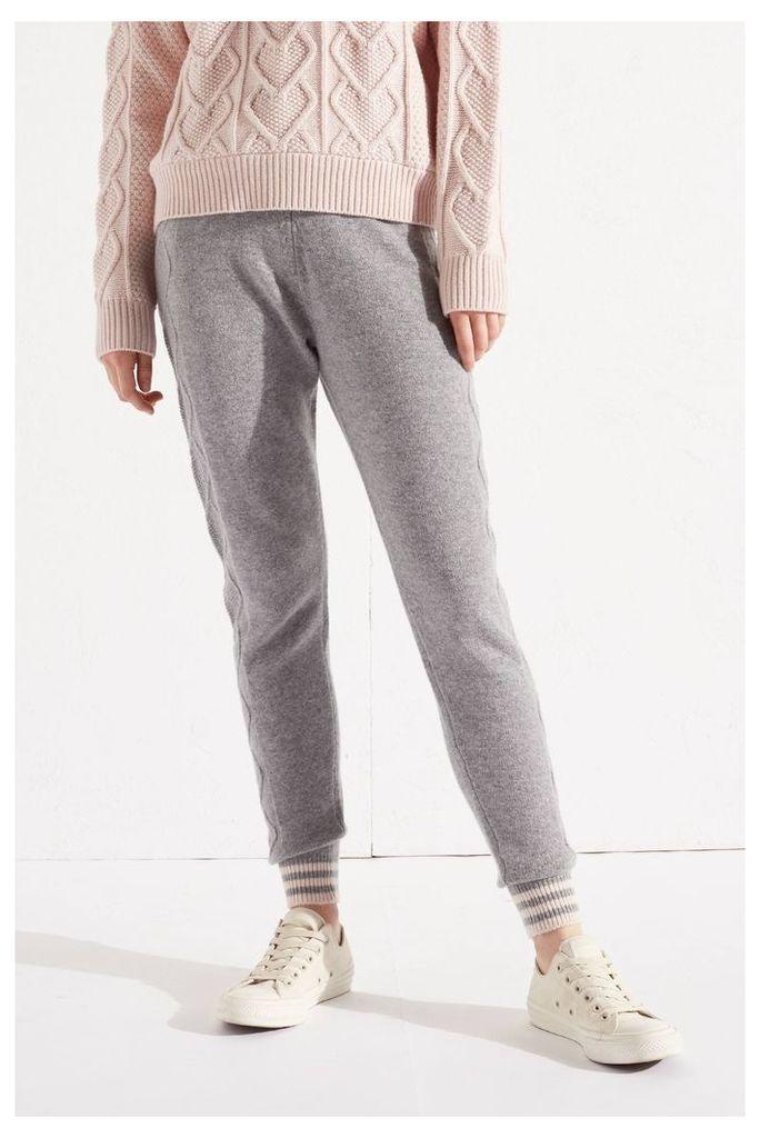 NEW Grey Heart Aran Cashmere Blend Track Pants