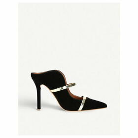 Maureen buckled velvet mules
