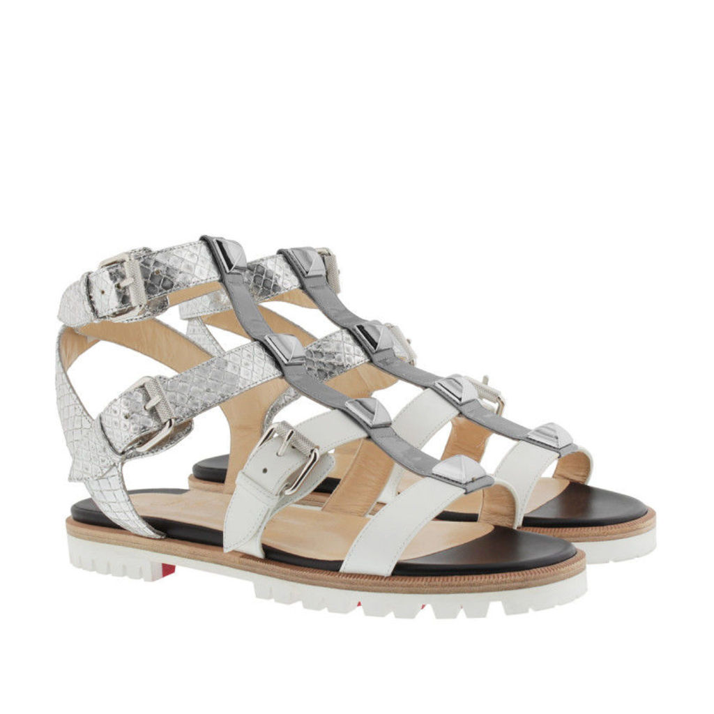 Christian Louboutin Sandals - Pumps Rocknbuckle Metal - in silver - Sandals for ladies