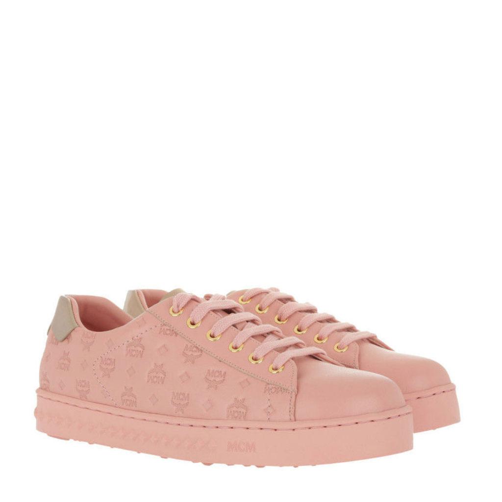 MCM Sneakers - W Embo LT Logo String Added Sneaker Pink Blush - in rose - Sneakers for ladies