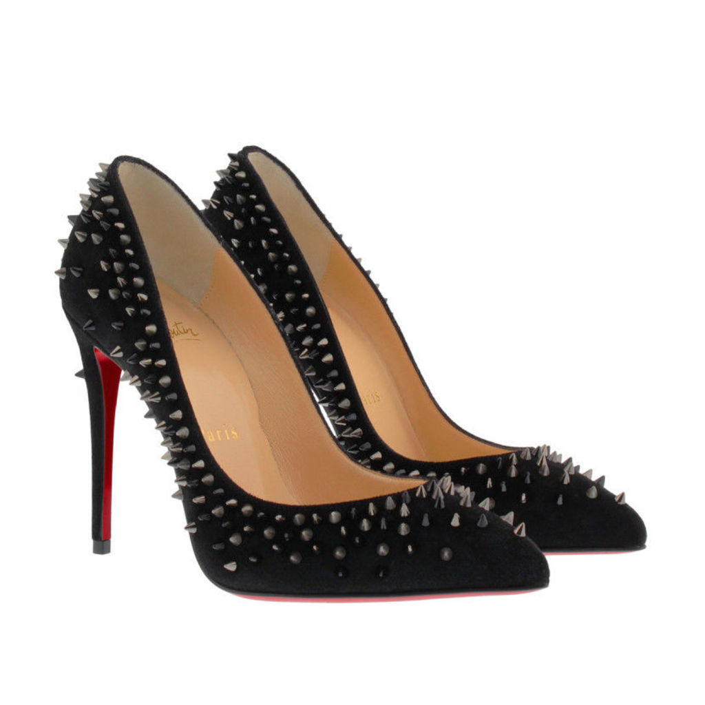 Christian Louboutin Pumps - Pumps Escarpic 100 Suede Black - in black - Pumps for ladies