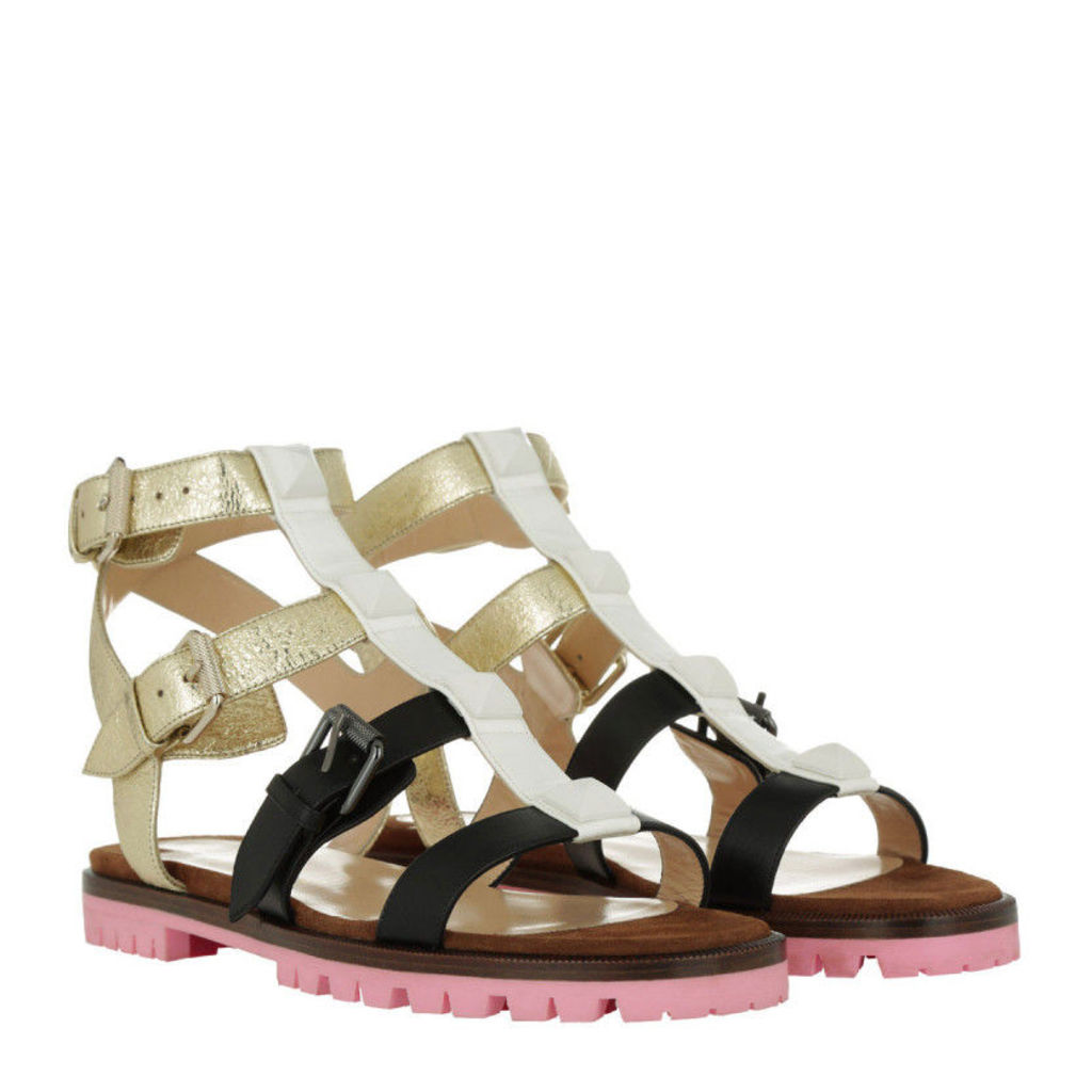 Christian Louboutin Sandals - Sandals Rocknbuckle Latte - in gold, white, black - Sandals for ladies