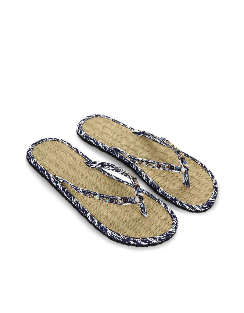 Ikat Eclectic Seagrass Flip Flops