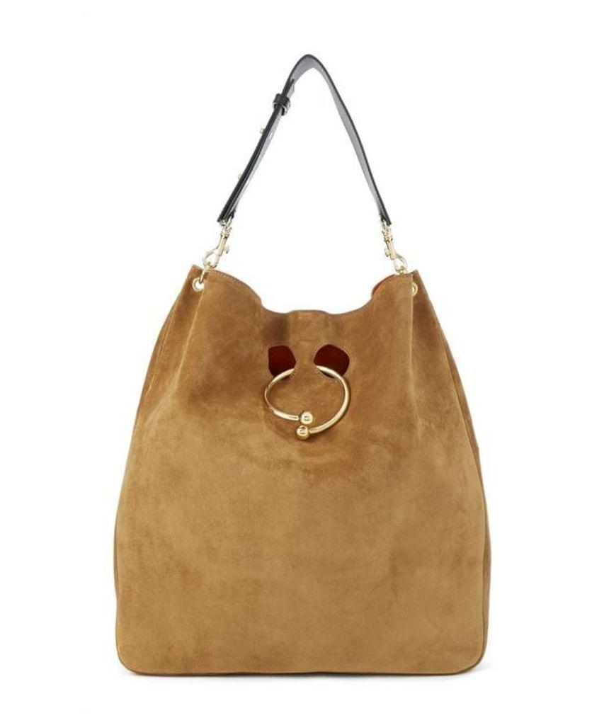 Large Pierce Suede Hobo Bag