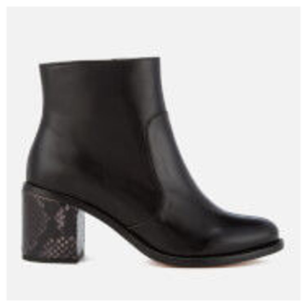 PS by Paul Smith Women's Luna Leather Heeled Ankle Boots - Black