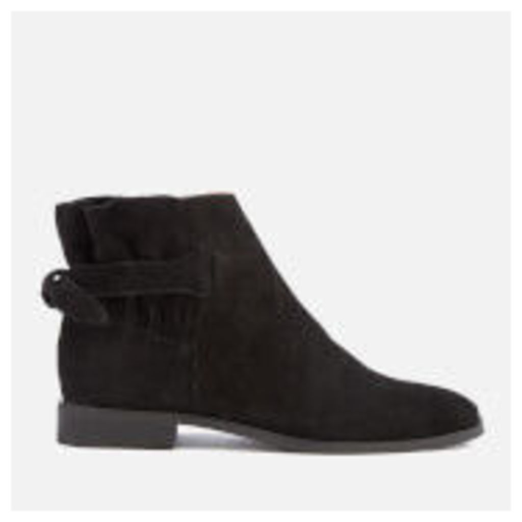 Hudson London Women's Aretha Suede Flat Ankle Boots - Black