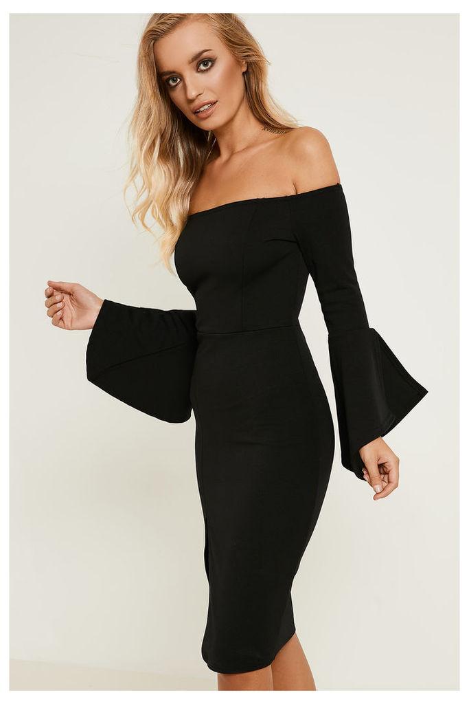 Brand Attic Bardot Frill Sleeve Midi Dress