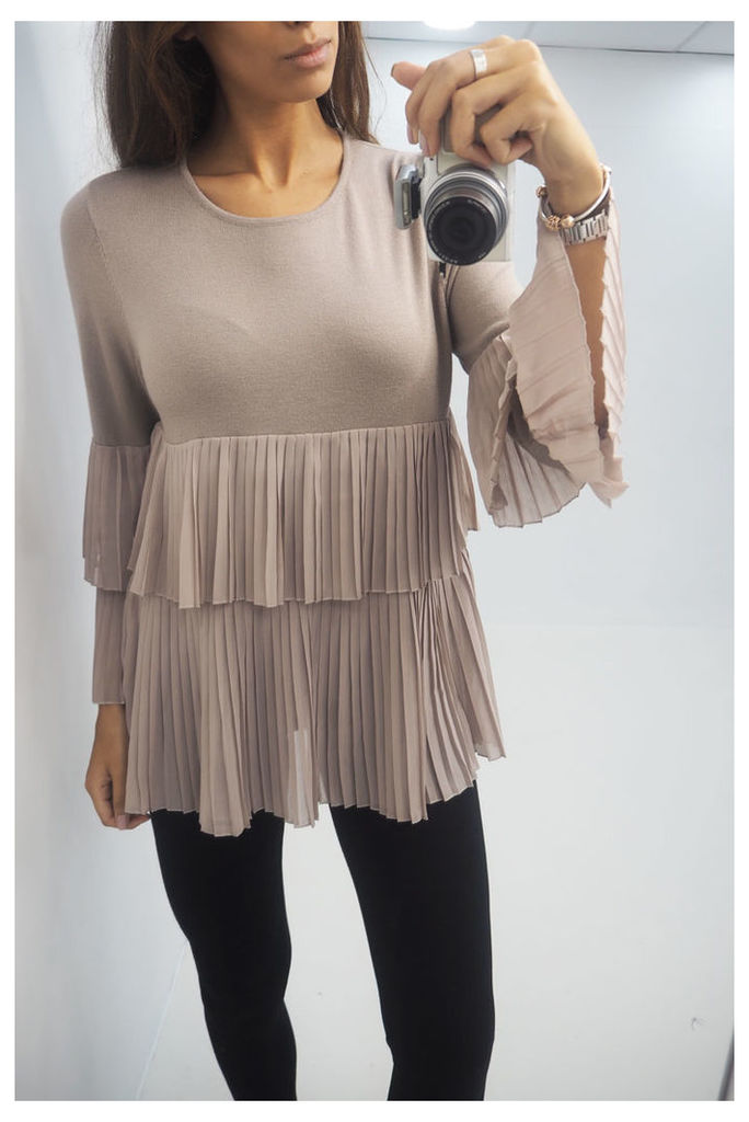 Gracie pleated ruffle layered jumper