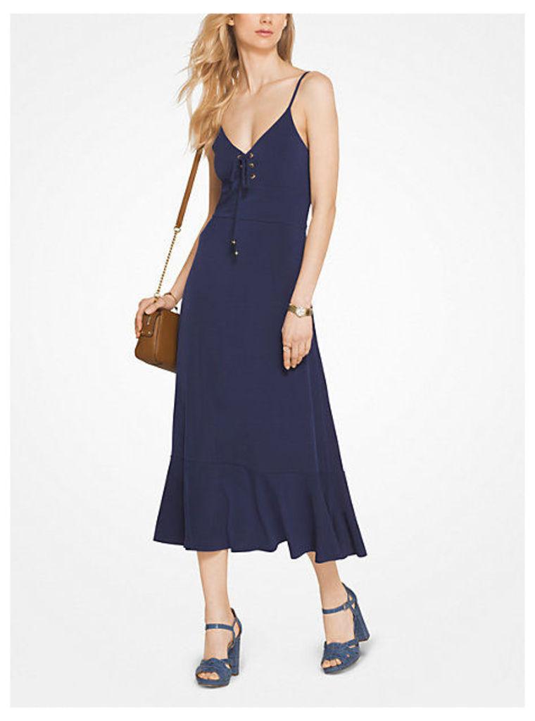 Lace-Up Jersey Slip Dress