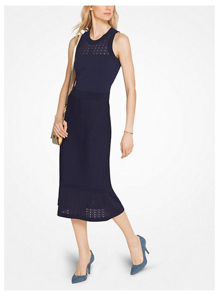 Pointelle Stretch-Viscose Dress