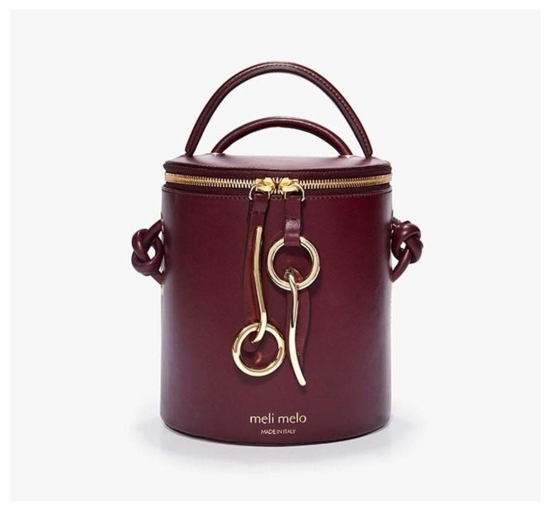 OP Hue Severine Bucket Bag Cardinal Burgundy