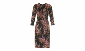 Wren Print Silk Bodycon
