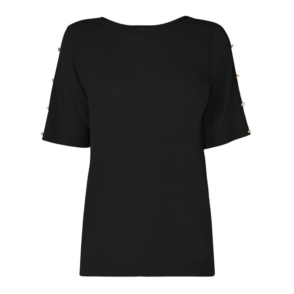Moira Black Merino Top