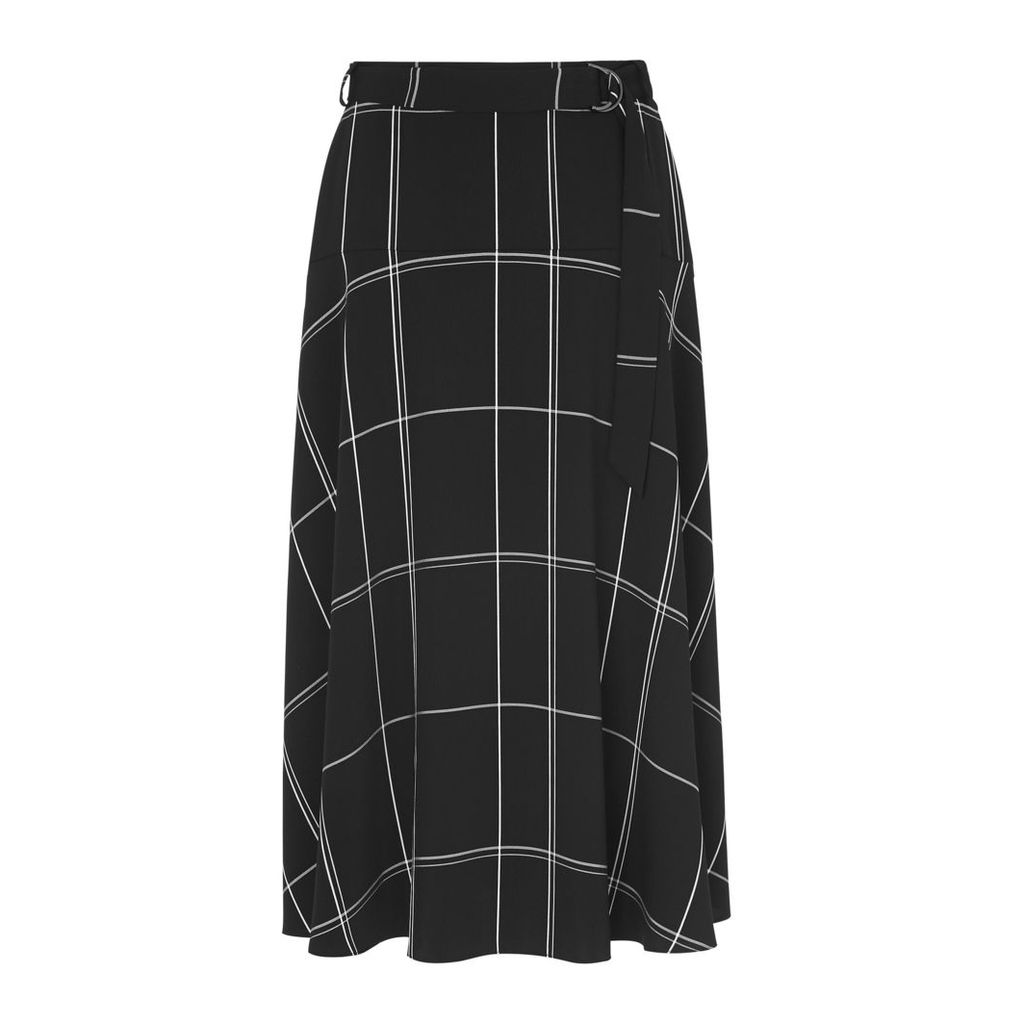 Dinah Black Check Skirt
