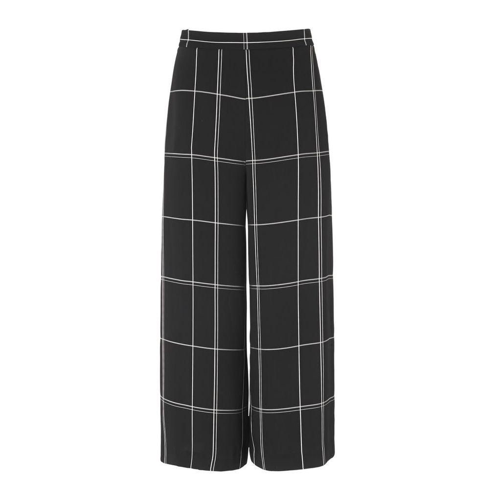 Dinah Black Check Wide Leg Trousers