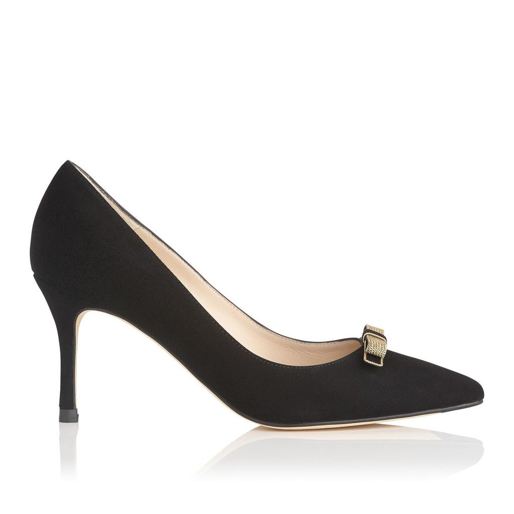 Marion Black Suede Courts