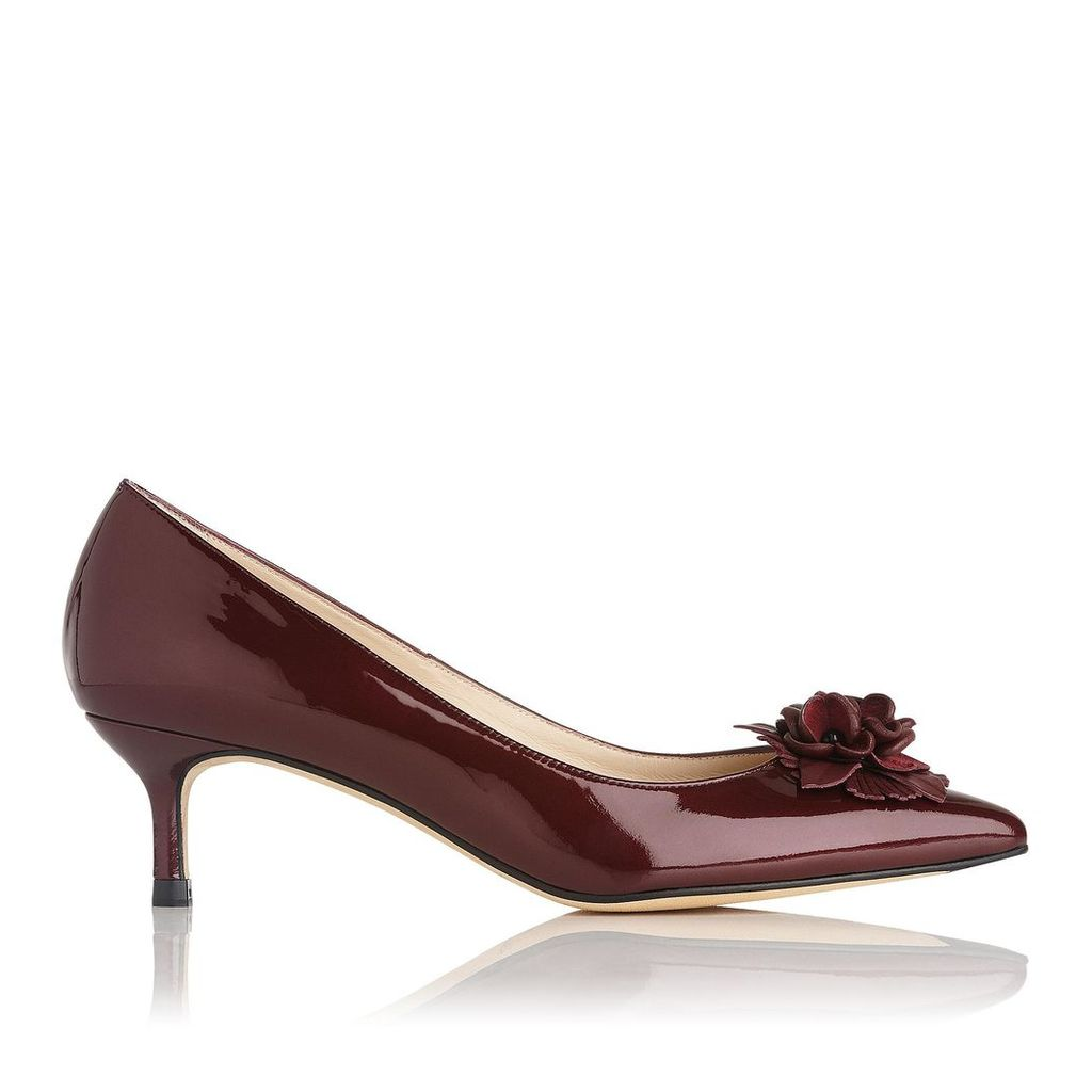 Portia Oxblood Patent Leather Courts