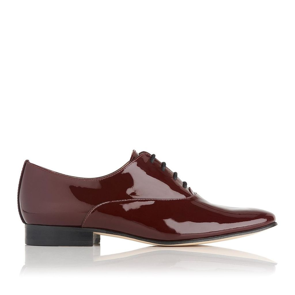 Isabelle Oxblood Patent Leather Oxfords