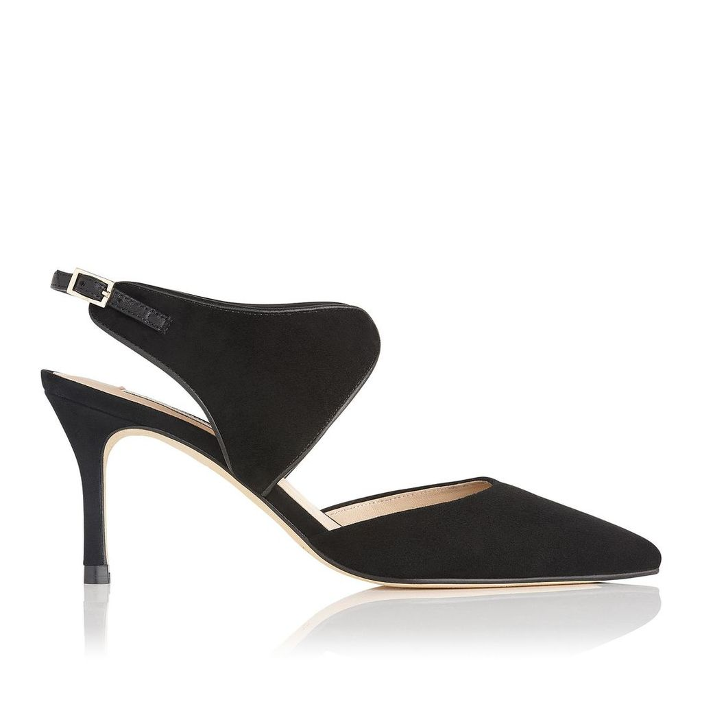 Cecily Black Suede Open Courts