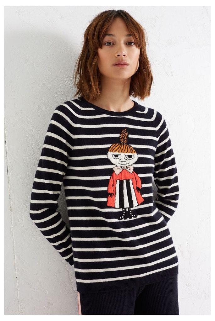 NEW Navy Little My Breton Cashmere Sweater