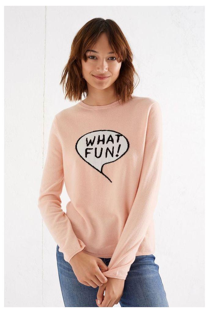 NEW Blush Pink What Fun Cashmere Sweater