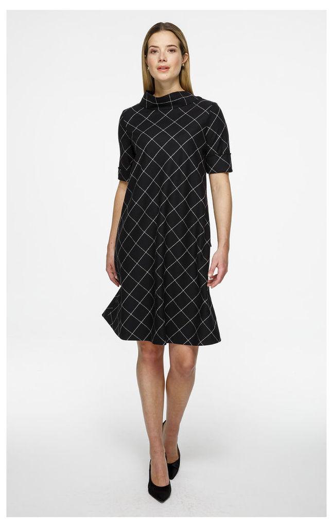 Wool Tie Collar Dress