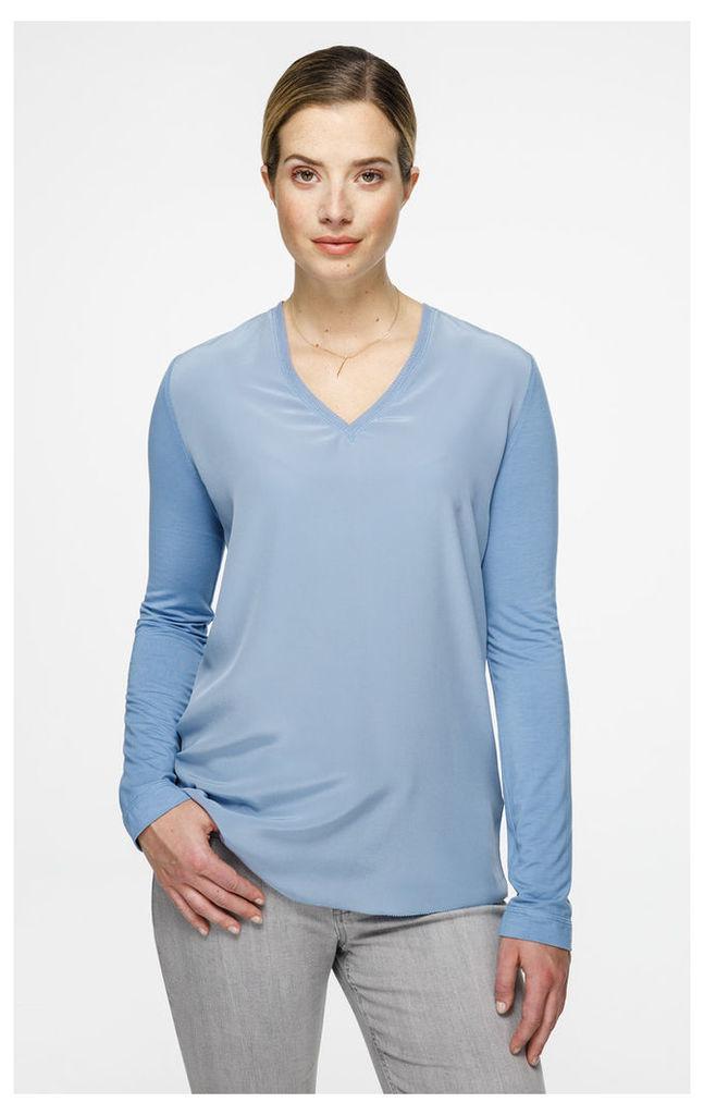 Silk Paneled Top