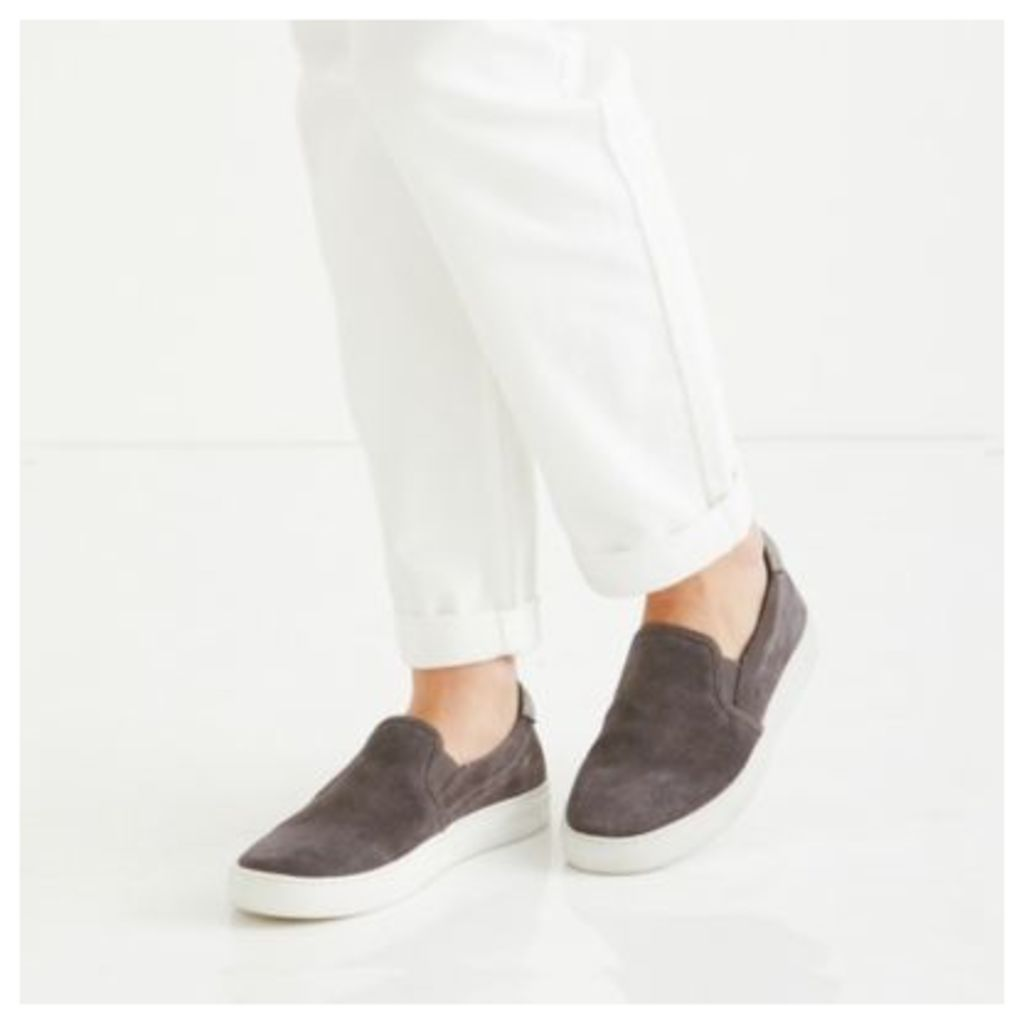 Suede Sparkle Slip-On Trainers