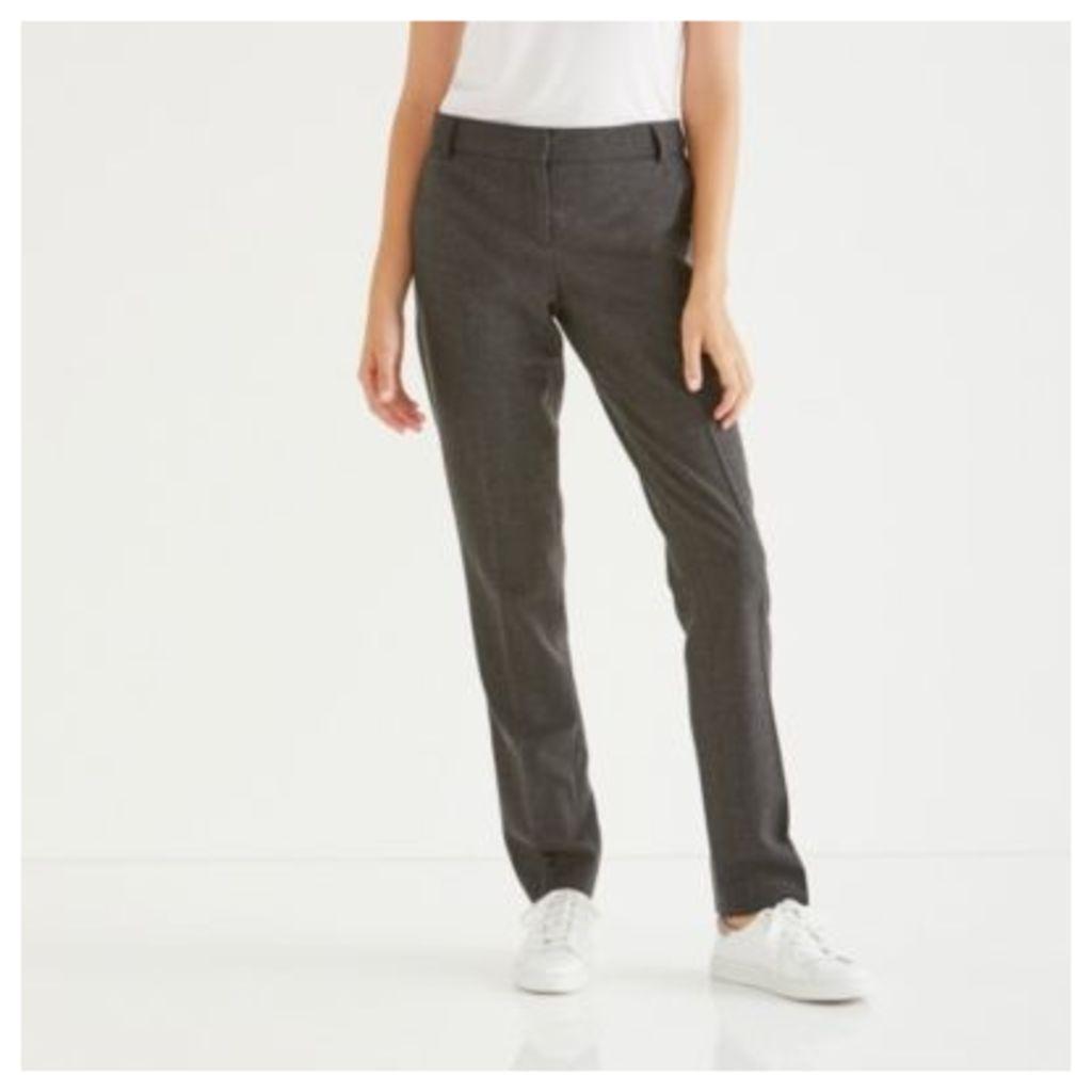 Oxford Flannel Slim Leg Trousers