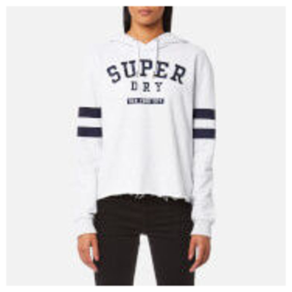 Superdry Women's Riverside Crop Hooded Jumper - Pearl Marl