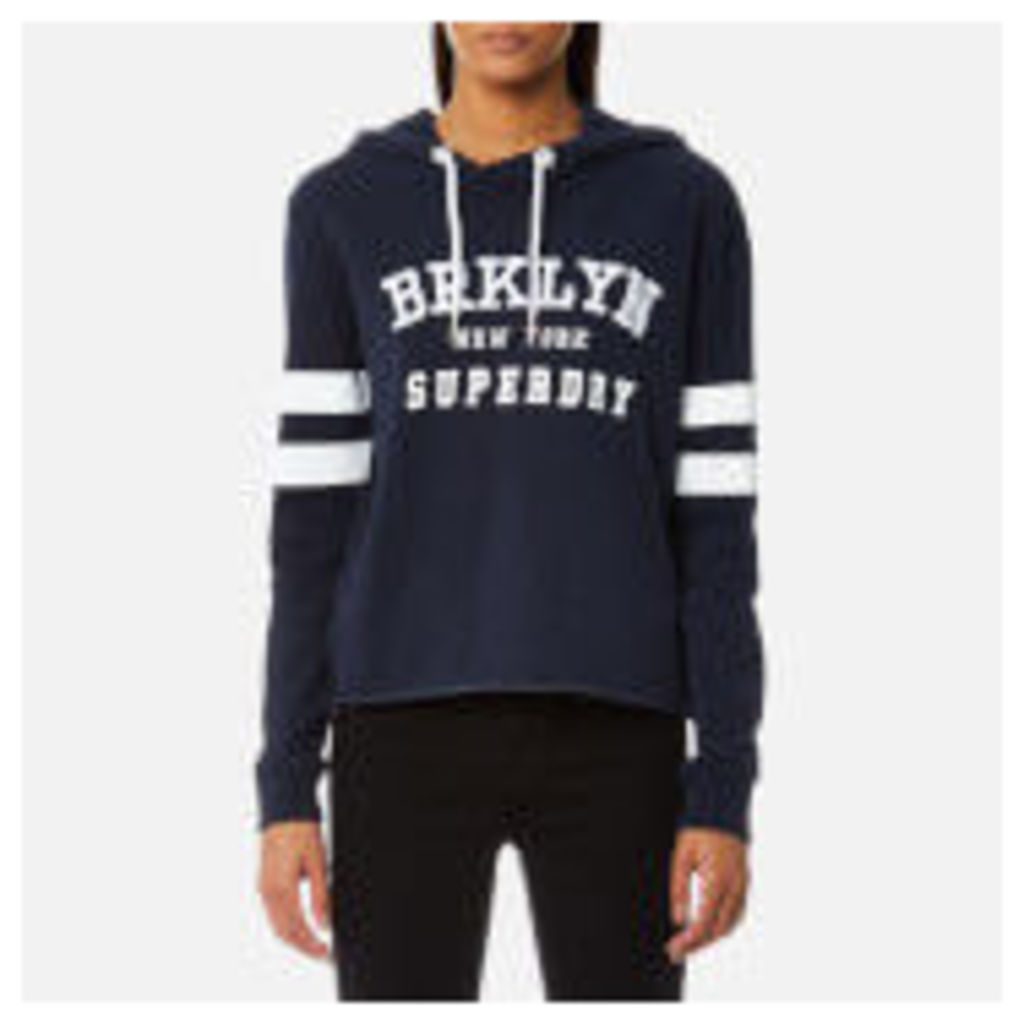 Superdry Women's Riverside Crop Hooded Jumper - 90's Navy
