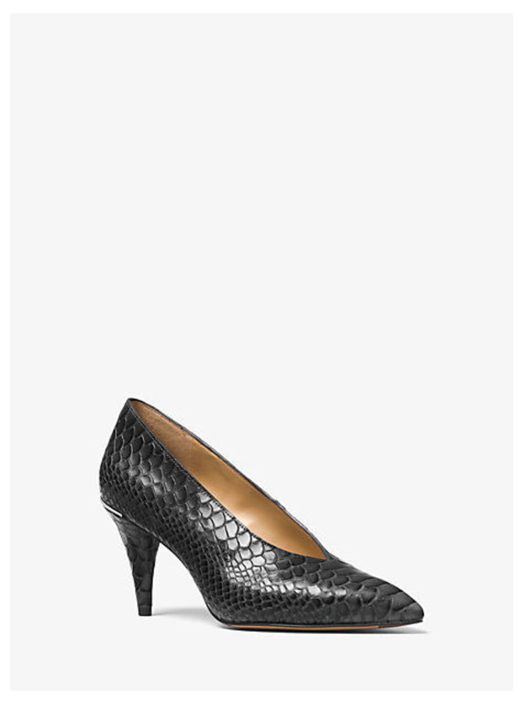 Lizzy Embossed-Leather Choked Pump