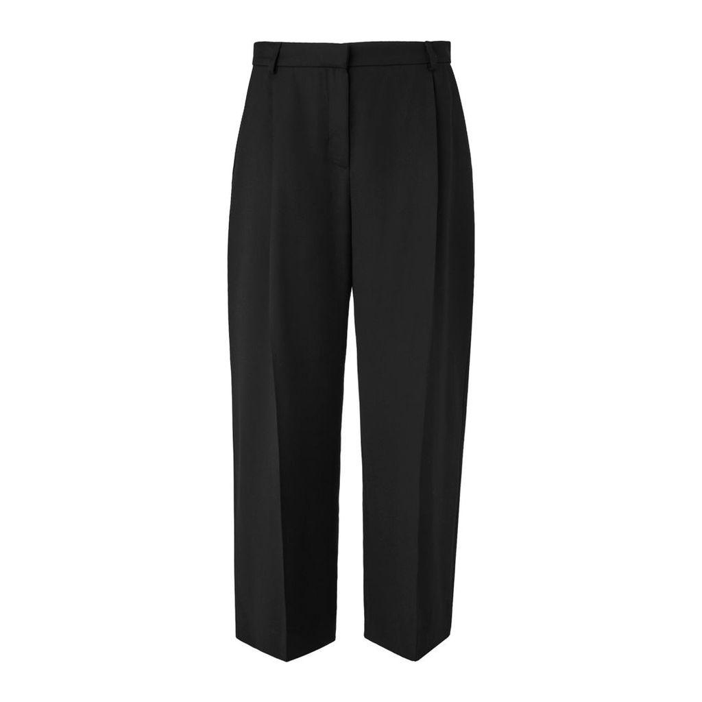 Elma Black Cropped Trousers